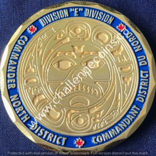 RCMP E Division - North District Commander Gold