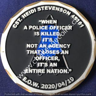 RCMP Generic Cst. Heidi STEVENSON EOW 20200419
