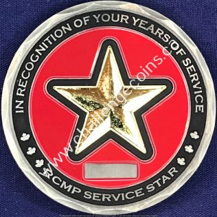 RCMP Generic Service Star In Recognition of your years of service Gold