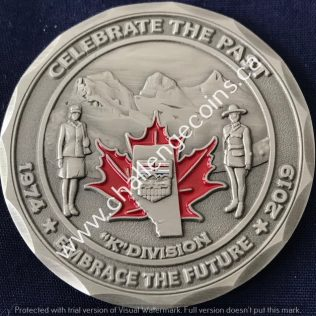 RCMP K Division Celebrate the Past 1974-2019 Pewter
