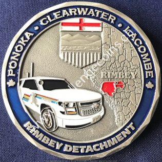 RCMP K Division Rimbey Detachment Silver