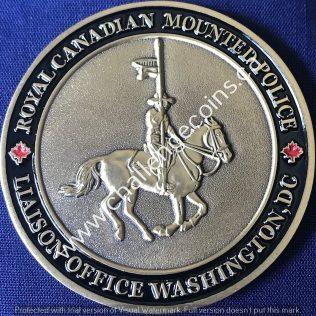 RCMP NHQ Liaison Office Washington Antique Gold