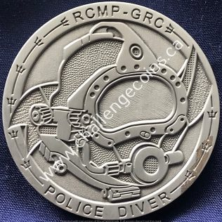 RCMP NHQ Underwater Recovery Team Pewter