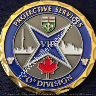 RCMP O Division Protective Services Gold new
