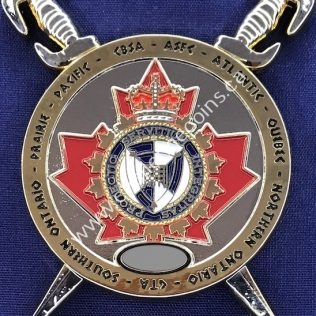 Canada Border Services Agency CBSA - Challenge Coin Hub Sword