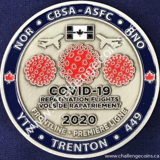 Canada Border Services Agency CBSA - Covid-19 Repatriation Flights Trenton 2020 Red