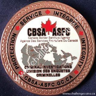 Canada Border Services Agency CBSA - Criminal Investigations National Security Bronze