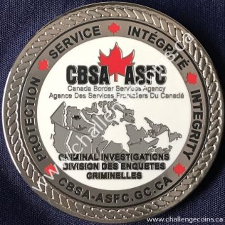 Canada Border Services Agency CBSA - Criminal Investigations National Security Silver