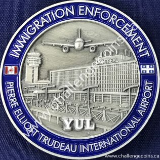 Canada Border Services Agency CBSA - Pierre Elliott Trudeau International Airport Grey