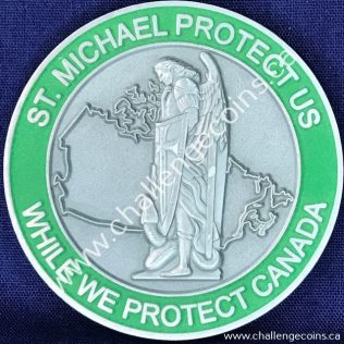 Canada Border Services Agency CBSA - St Michael Protect Us Green