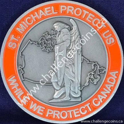 Canada Border Services Agency CBSA - St Michael Protect Us Orange