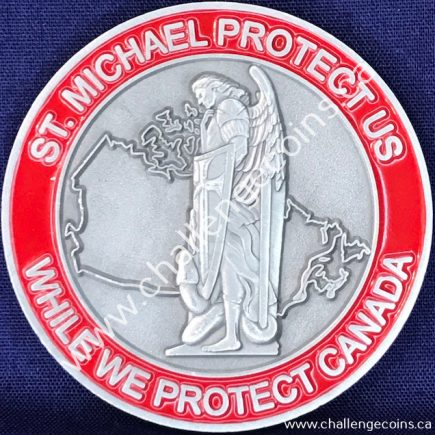 Canada Border Services Agency CBSA - St Michael Protect Us Red