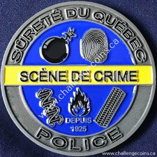 Sûreté du Québec - Service de la Criminalistique couleur